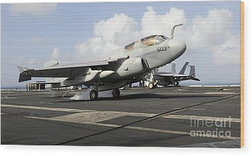 N Ea-6b Prowler Makes An Arrested Wood Print by Stocktrek Images