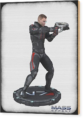 N7 Soldier V3 Wood Print by Frederico Borges