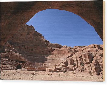 Nabatean Theatre, Petra, Jordan Wood Print by Joe & Clair Carnegie / Libyan Soup