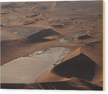 Namibia Aerial IIi Wood Print by Nina Papiorek