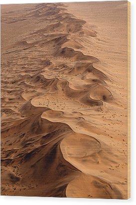 Namibia Aerial Wood Print by Nina Papiorek