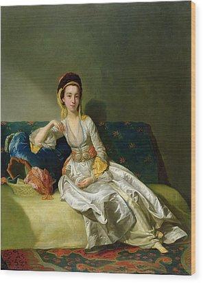 Nancy Parsons In Turkish Dress Wood Print by George Willison