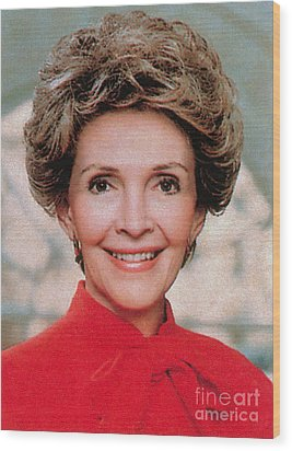 Nancy Reagan, 40th First Lady Wood Print by Photo Researchers