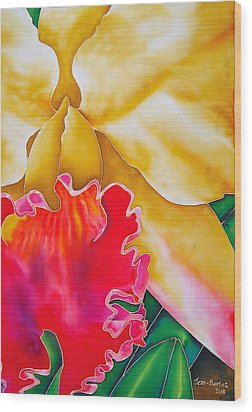 Nancy Smith Orchid Wood Print by Daniel Jean-Baptiste