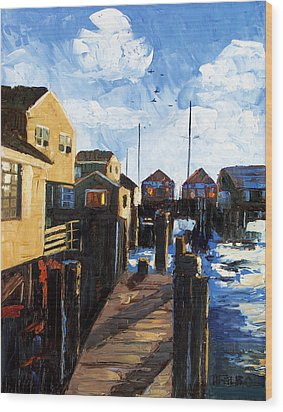 Nantucket Wood Print by Anthony Falbo