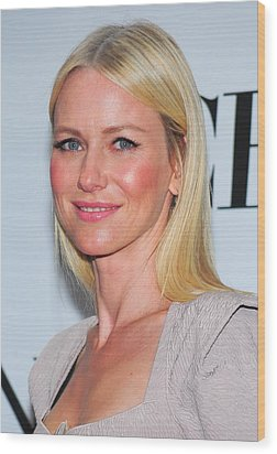 Naomi Watts At Arrivals For American Wood Print by Everett