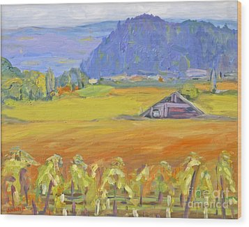 Napa Valley Mountains Wood Print