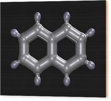 Naphthalene Molecule Wood Print by Dr Mark J. Winter