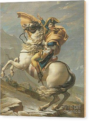Napoleon Wood Print by Jacques Louis David