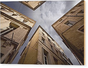 Narrow Streets Of Montpellier Wood Print by Evgeny Prokofyev