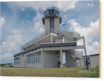 Nasa Air Traffic Control Tower Wood Print by Nasa