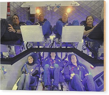 Nasa Astronauts And Industry Experts Wood Print by Everett