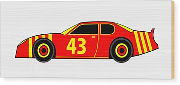 Nascar Winner Virtual Car Wood Print by Asbjorn Lonvig