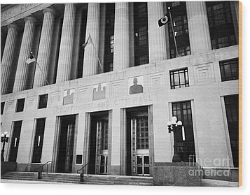 Nashville City Hall Davidson County Public Building And Court House Tennessee Usa Wood Print by Joe Fox