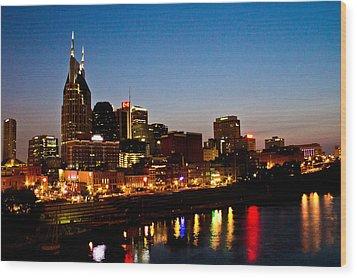 Nashville Skyline Wood Print by Elizabeth Wilson