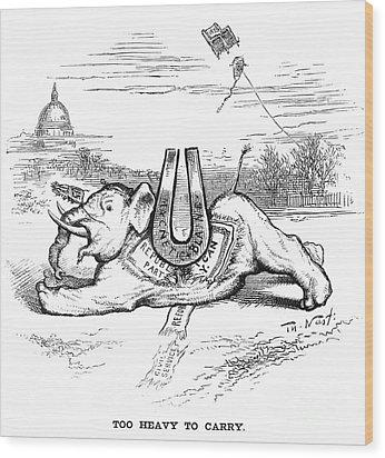 Nast: Blaine Cartoon, 1884 Wood Print by Granger
