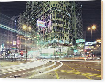 Nathan Road Wood Print by Thank you for choosing my work.