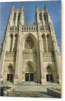 National Cathedral IIi Wood Print by Steven Ainsworth