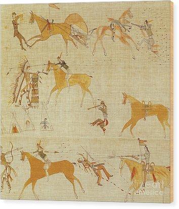 Native American Art Wood Print by Photo Researchers