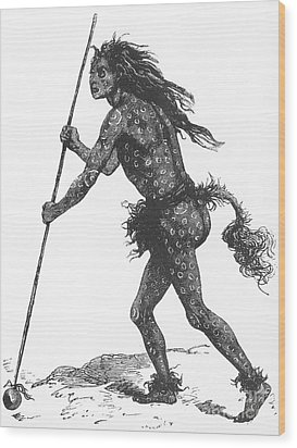 Native American Shaman Wood Print by Science Source