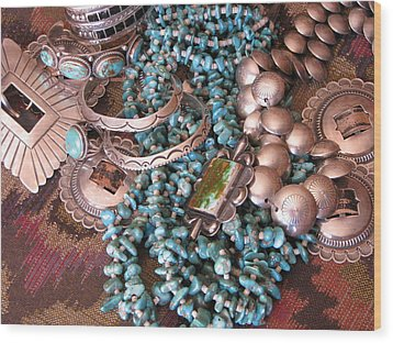 Native Wealth Wood Print by Penny Anast