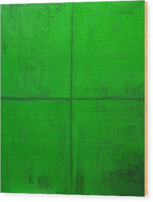 Natural Green Coordinate System Wood Print by Kazuya Akimoto