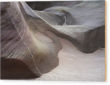 Nature's Artistry In Stone Wood Print by Bob Christopher