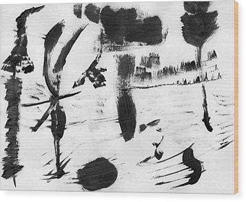 Nature's Slavery Wood Print by Taylor Webb