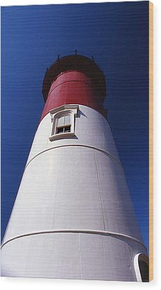 Nauset Beach Lighthouse Wood Print by Skip Willits