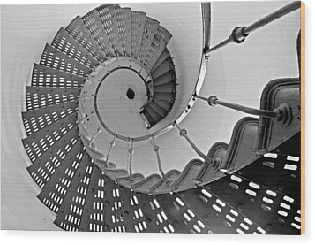 Nautilus Stairs Wood Print by Sandy Fisher
