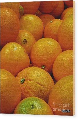 Navel Oranges Wood Print by Methune Hively