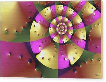 Navigating Minkowski Space Wood Print by Manny Lorenzo