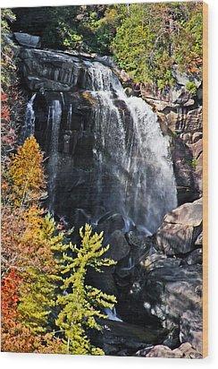 Nc Waterfalls Wood Print