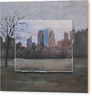 Ncy Central Park Layered Wood Print by Anita Burgermeister