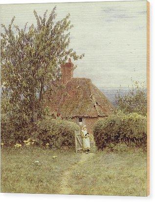 Near Haslemere Wood Print by Helen Allingham