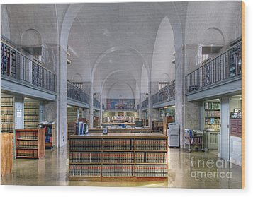 Nebraska State Capitol Library Wood Print by Art Whitton