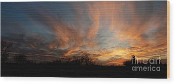 Nebraska Sunset Wood Print