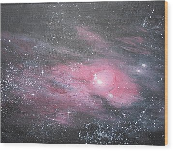 Nebula 1 Wood Print by Siobhan Lawson