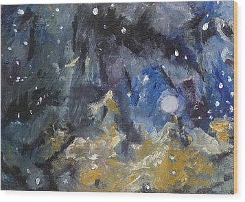 Wood Print featuring the painting Nebula by Jessmyne Stephenson