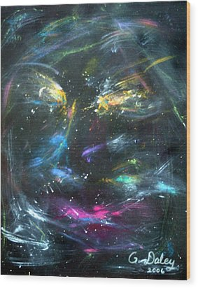 Nebula's Face Wood Print