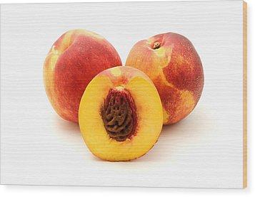 Nectarine Wood Print by Fabrizio Troiani
