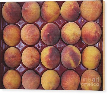 Nectarines - 5d17068 Wood Print by Wingsdomain Art and Photography