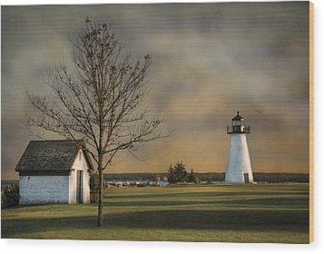Ned's Point Light Wood Print