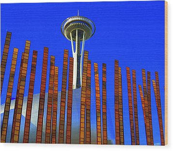 Needle In A Haystack Wood Print by Randall Weidner