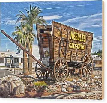 Needles California Wood Print by Gregory Dyer