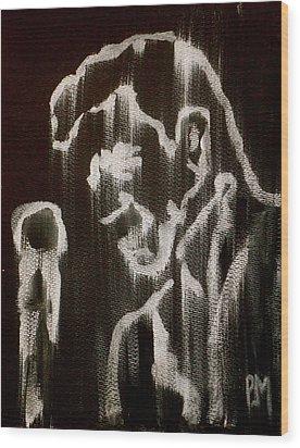 Negative Streak Wood Print by Pete Maier