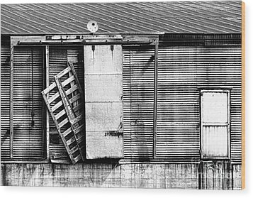 Neglected Grunge Bw Wood Print by Lawrence Burry