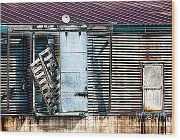 Neglected Grunge Wood Print by Lawrence Burry