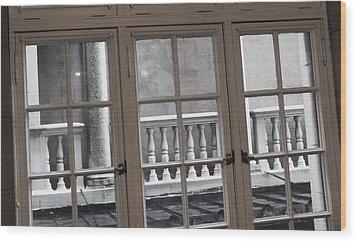 Neighbors Baluster Wood Print by Anna Villarreal Garbis