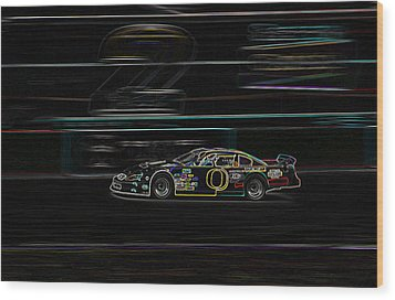 Wood Print featuring the photograph Neon Nascar by Tyra  OBryant